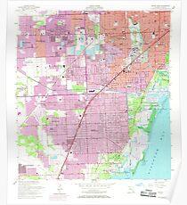 USGS TOPO Map Florida FL South Miami 348563 1956 24000 Poster