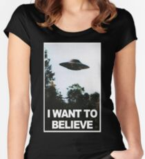 I want to believe // x files Women's Fitted Scoop T-Shirt