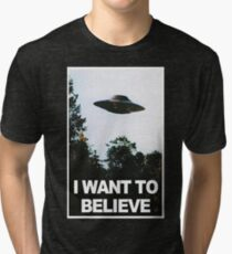I want to believe // x files Tri-blend T-Shirt