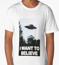 I want to believe // x files Long T-Shirt