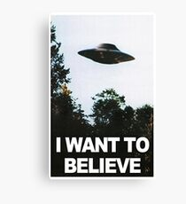I want to believe // x files Canvas Print