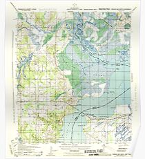USGS TOPO Map Florida FL Perdido Bay North 348072 1944 25000 Poster