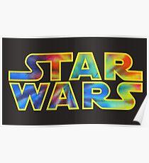 Tie Dye Star Wars Poster
