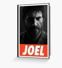 """The Last Of Us """"Obey Joel"""" Greeting Card"""