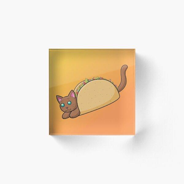 Taco Cat Acrylic Block