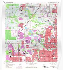 USGS TOPO Map Florida FL Fort Lauderdale North 346255 1962 24000 Poster