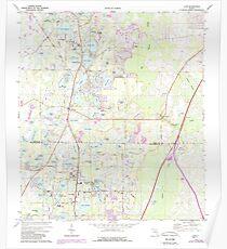 USGS TOPO Map Florida FL Lutz 347288 1974 24000 Poster