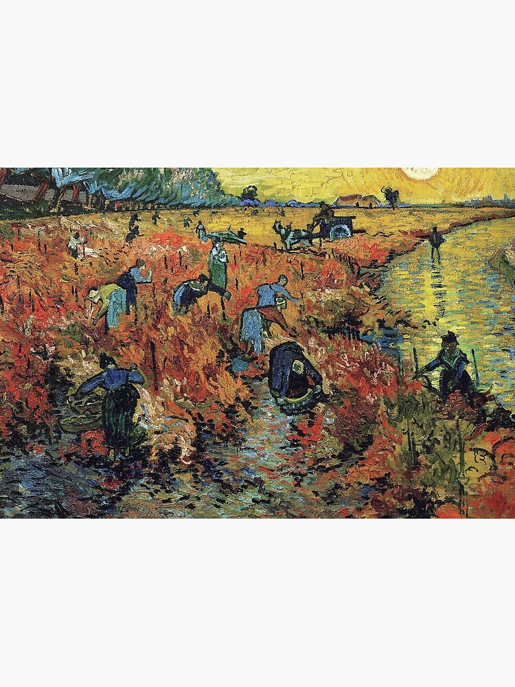 The Red Vineyards Oil Painting on Burlap by Vincent van Gogh by podartist