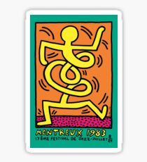 KEITH HARING MONTREUX 1983 Jazz Festival exhibition Poster Sticker