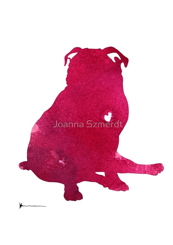 Pug dog prints watercolor painting  by Joanna Szmerdt