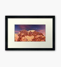 Sunrise over Aoraki / Mount Cook. 2 Framed Print