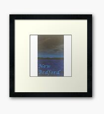 New Bedford Beach at Night Framed Print