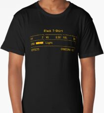 "Fallout New Vegas ""Black T-Shirt"" Stats Long T-Shirt"