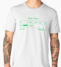 "Fallout 3 ""Black T-Shirt"" Stats Men's Premium T-Shirt"