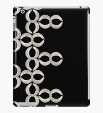 Pattern - Infinity stripe White Ribbon on Black iPad Case/Skin