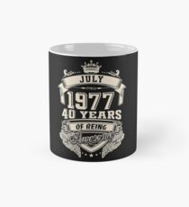 Born In July 1977 40 Years of Being Awesome Classic Mug