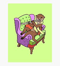 Otter Plays Flute Photographic Print