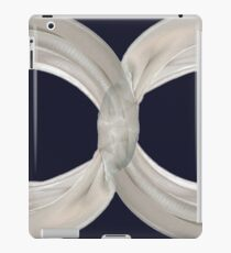 Infinity - White Ribbon on Navy iPad Case/Skin