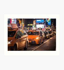 New York | Taxi Life Art Print