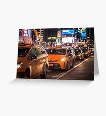New York   Taxi Life Greeting Card