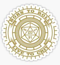 D20 Badge Sticker