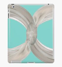 Infinity - White Ribbon on Robin's Egg Blue iPad Case/Skin