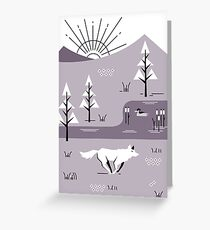 Wolf Landscape Greeting Card