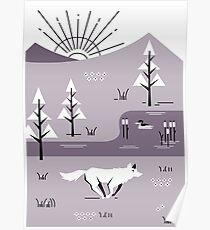 Wolf Landscape Poster