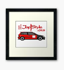 Civic Ef Hatch Kanjo Style Framed Print