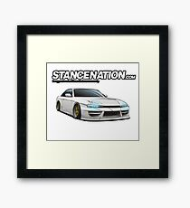 Nissan s14 StanceNation Framed Print