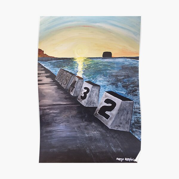 """""""Merewether Baths"""" by Margo Humphries Poster"""