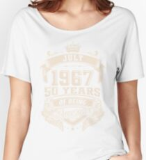 July 1967 50 Years of Being Awesome Women's Relaxed Fit T-Shirt