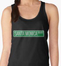 Santa Monica Boulevard street sign Women's Tank Top