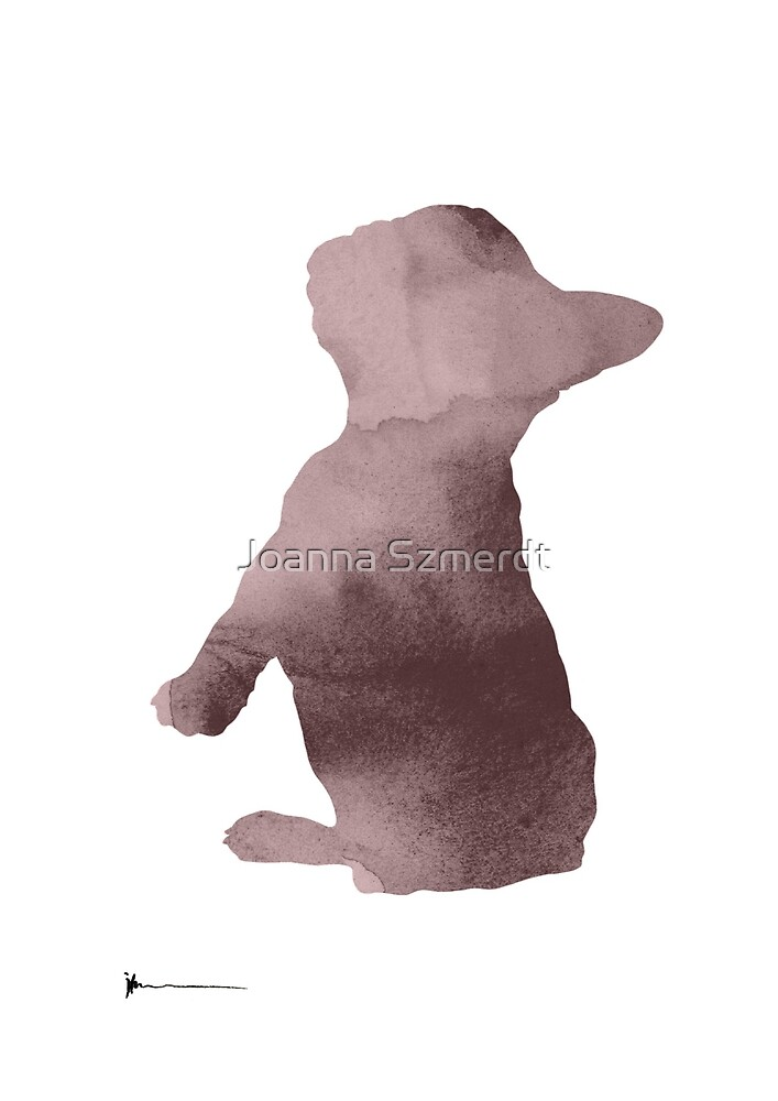 French bulldog silhouet art print painting by Joanna Szmerdt
