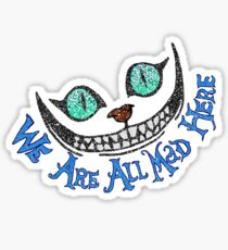 Alice Cheshire Cat Sticker