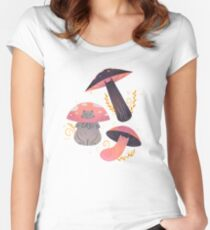 Meowshrooms Women's Fitted Scoop T-Shirt