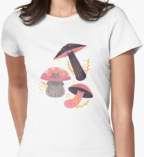 Meowshrooms Women's Fitted T-Shirt