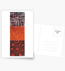 Orangeshed triptych part a, b & c Postcards