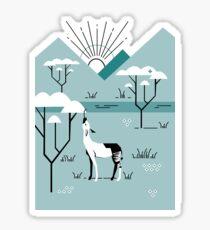 Okapi Landscape Sticker