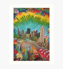 City - vivid Art Print