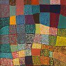 Dot Patchwork Landscape by Margo Humphries