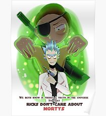 Ricks don't care about Mortys // Evil Morty Poster