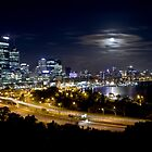 Perth CBD at night by rom01