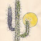Kaktus Sonnenuntergang von Maree Clarkson