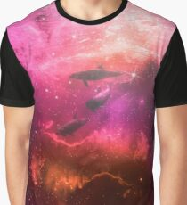 Floating Dolphins in mystic light Graphic T-Shirt