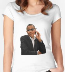 Obama - Deal with it Women's Fitted Scoop T-Shirt