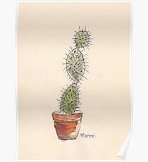 Opuntia cactus Poster