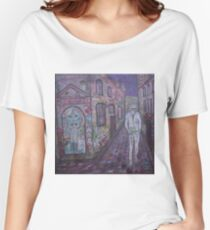 Night owl Hipster IN Grafitti Lane Women's Relaxed Fit T-Shirt