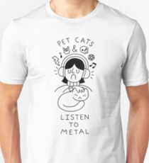 Pet Cats & Listen To Metal T-Shirt