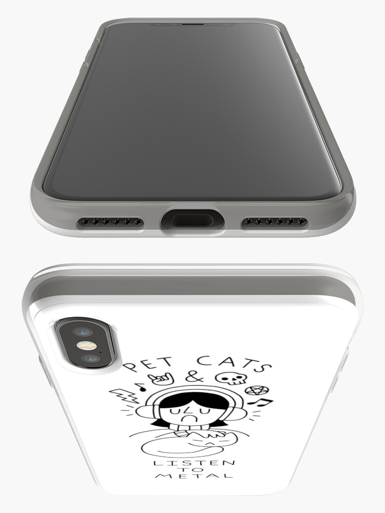 Alternate view of Pet Cats & Listen To Metal iPhone Case & Cover